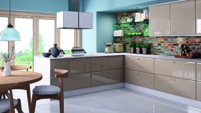 Cappucino (Kapuçino) Rengi Mutfak Dolapları ile Dekorasyon