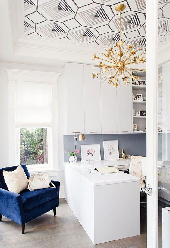 oturma odası tavan duvar kağıdı kaplama