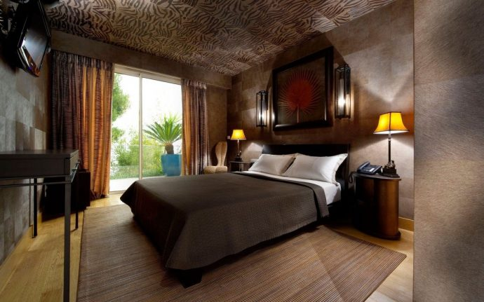 yatak odası tavan kağıdı kaplamaları