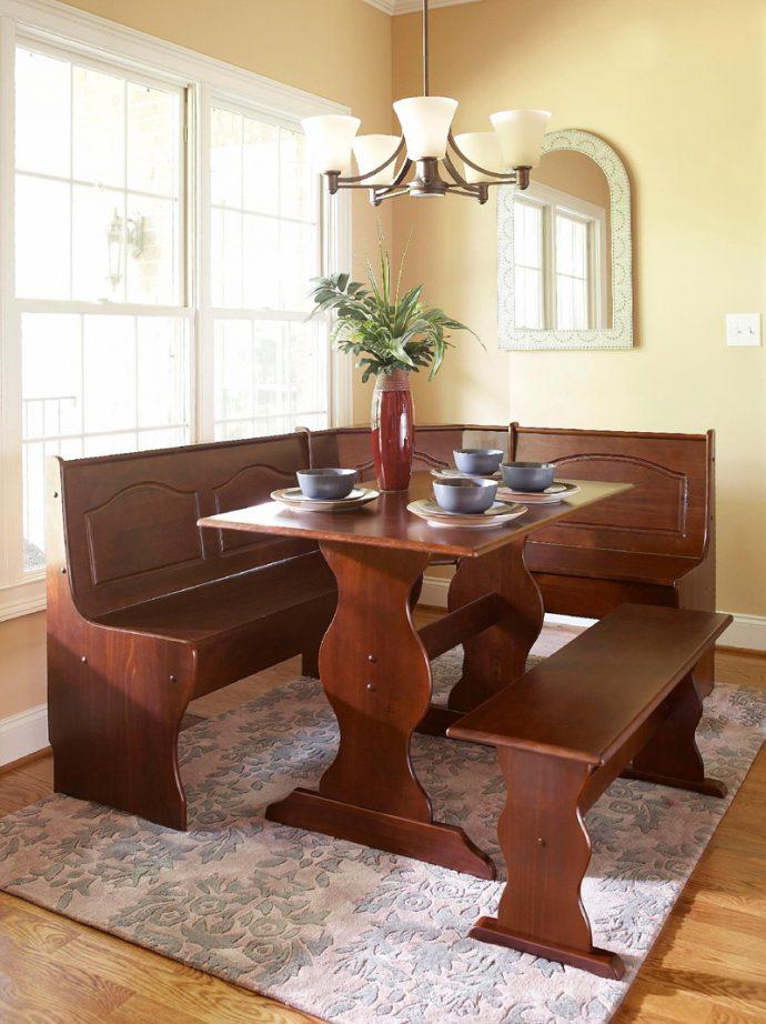 köşe koltuklu mutfak masası