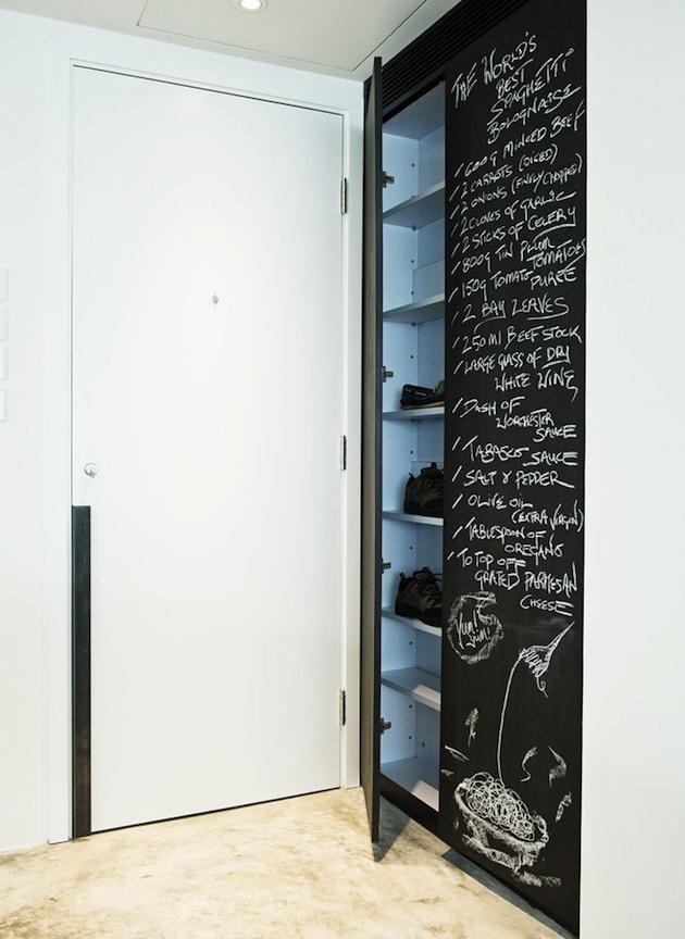 kara tahta kapı önü ayakkabılık